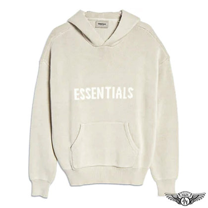 Fear of God Essentials SS21 Knit Pullover Hoodie   Stone