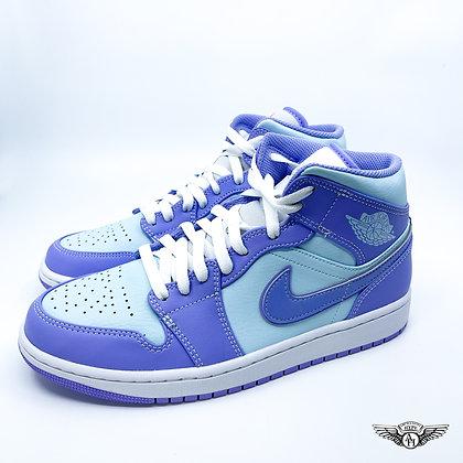 Nike Air Jordan 1 Mid Purple Pulse Glacier Blue