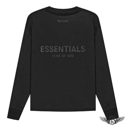 Fear of God Essentials SS21 Long Sleeve T-Shirt   Black