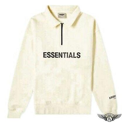 Fear of God Essentials Half Zip Pullover Cream FW20    Cream