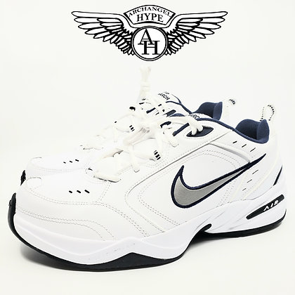 "Nike Air Monarch IV ""White/Navy"" Dad Shoe"