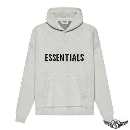 Fear of God Essentials SS21 Knit Pullover Hoodie | Light Heather Oatmeal