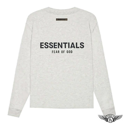 Fear of God Essentials SS21 Long Sleeve T-Shirt | Light Oatmeal Heather
