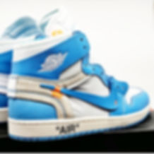 Nike Air Jordan 1 Retro High Off-White UNC University Blue