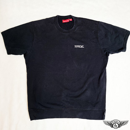 Supreme Short Sleeve Logo Crewneck Black SS15