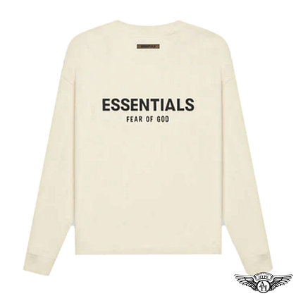 Fear of God Essentials SS21 Long Sleeve T-Shirt   Cream