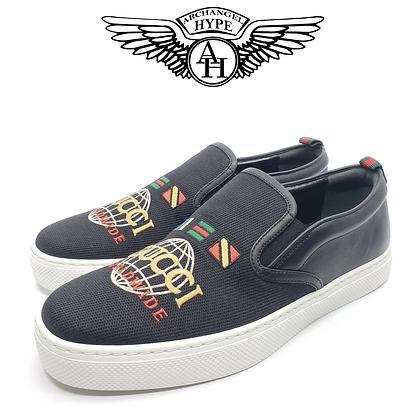 """Gucci Dublin Slip-On Sneaker """"Worldwide Flag"""""""