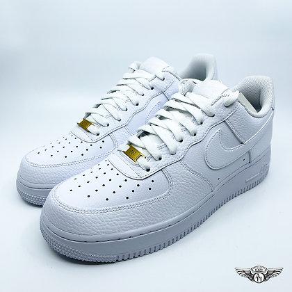Nike Air Force 1 Triple White Tumbled Leather