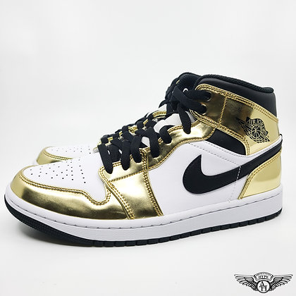 Nike Air Jordan 1 Mid Metallic Gold
