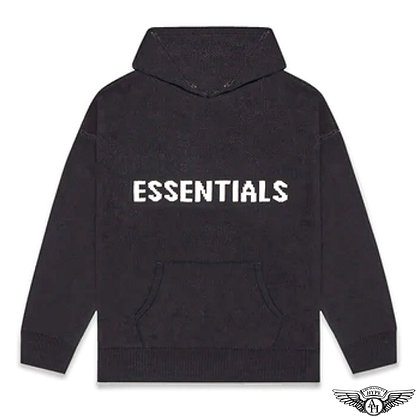 Fear of God Essentials FW20 Knit Pullover Hoodie| Black