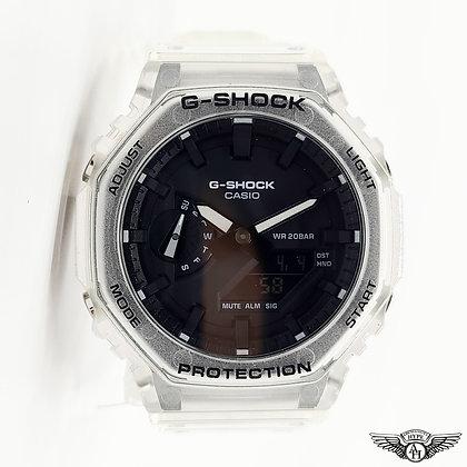 """Casio G-Shock GA-2100SKE-7A """"CasiOak"""" Clear/Transparent"""