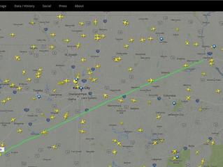 Day 2:  Flight tracking on FlightRadar24