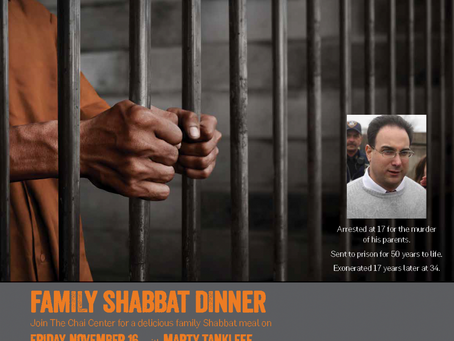 Family Shabbat Dinner with Marty Tankleff