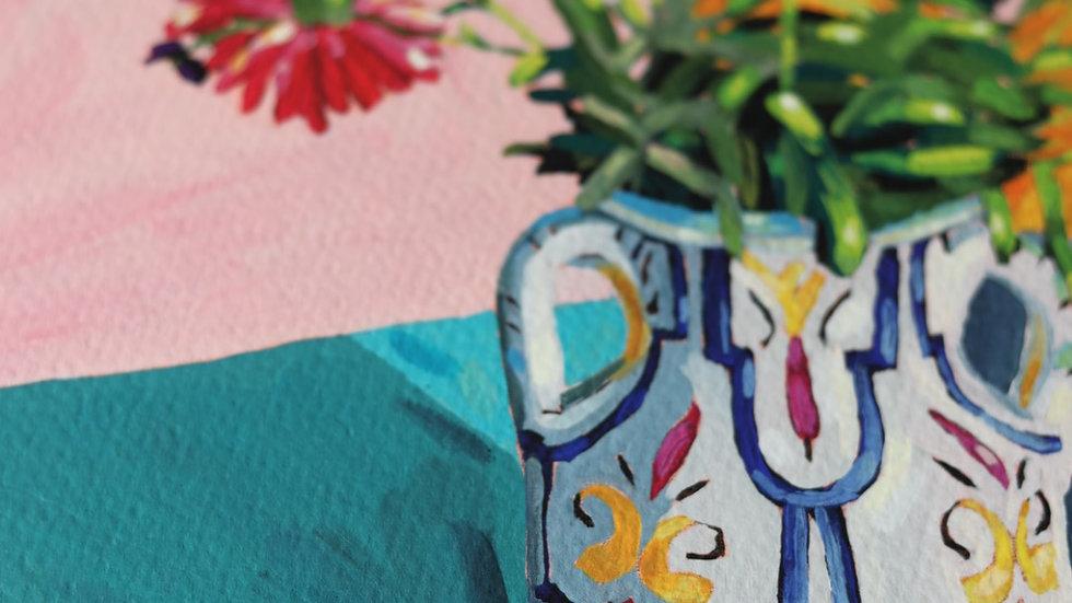 'Wildflowers in Jenny's Jug' print
