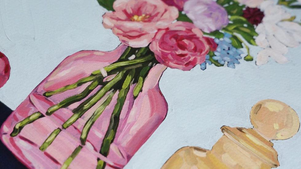 'Dutch Flowers' print