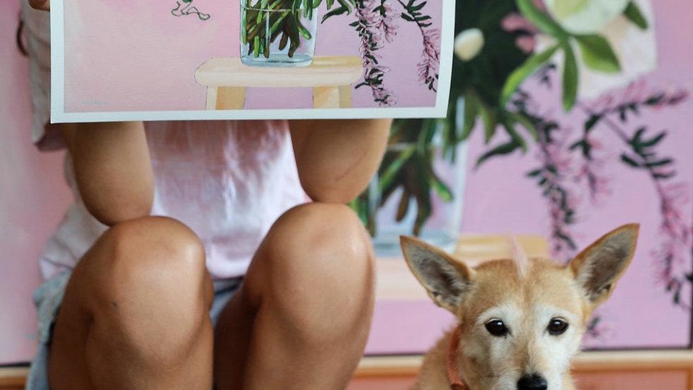 'Flowers Vasette' print