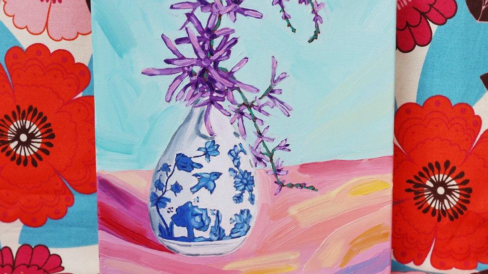 Petrea Flowers in a Tiny Vase