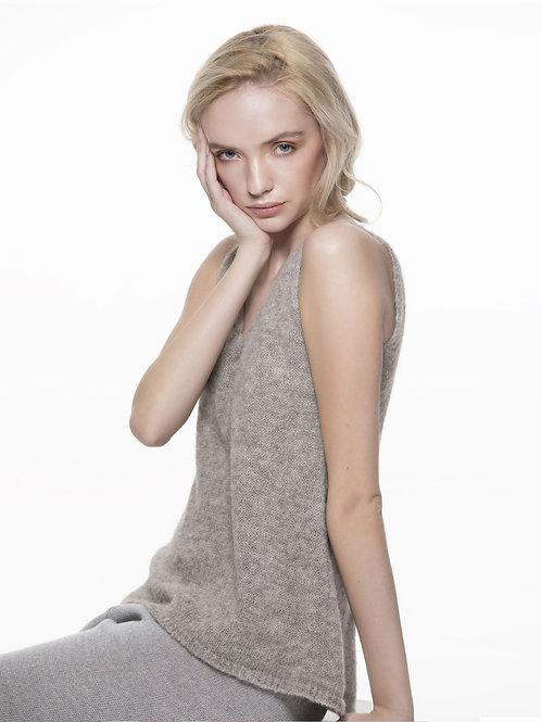 TRUJILLO light grey knitted top