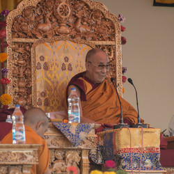 Il Dalai Lama a Tiksey