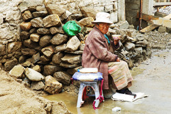 Anziana tibetana
