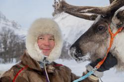Sami con renna