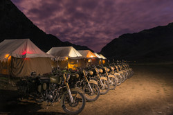Motociclette nella notte