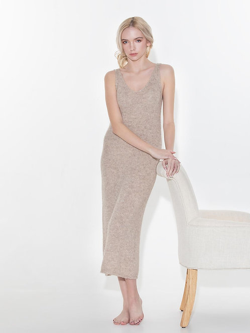 TRUJILLO beige knit dress
