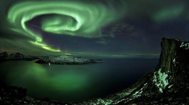 aurora boreale a spirale