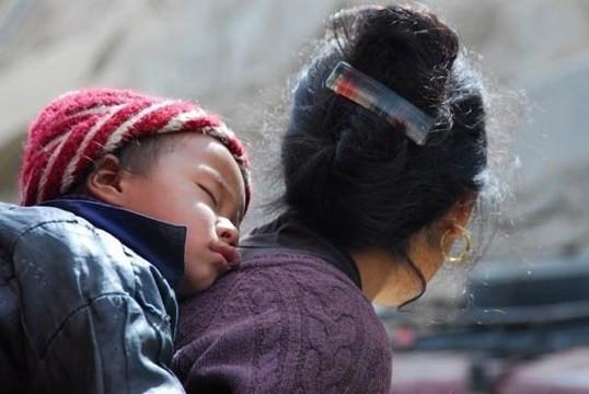 ladakh - madre e figlio