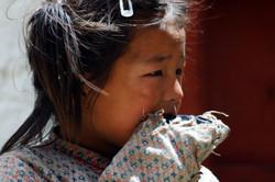 Ragazzina di etrnia tibetana