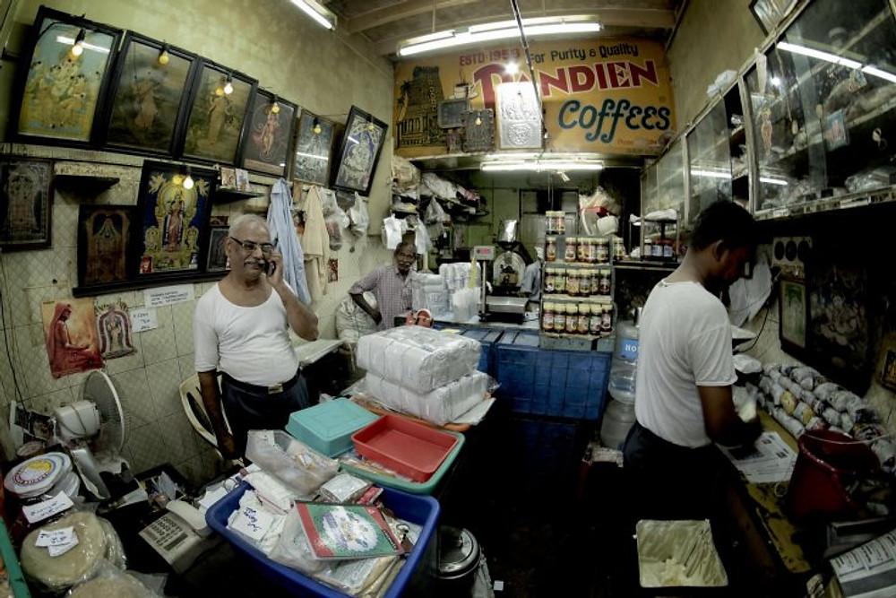 Nel negozio di caffè - Chennai