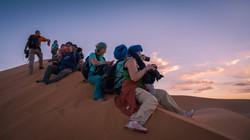 Fotografando il tramonto nel Sahara