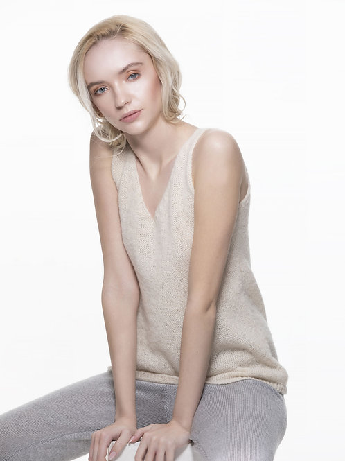 TRUJILLO white knitted top