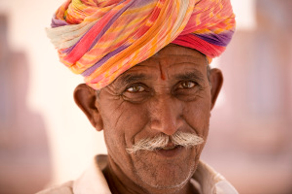 Rajasthani nella fortezza di Amber