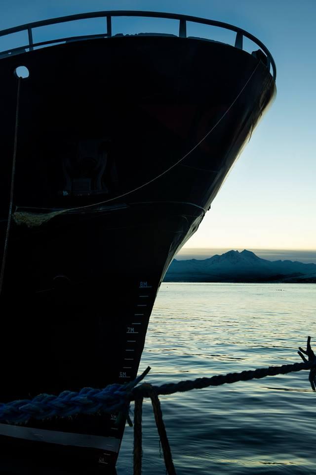 Scafi al tramonto