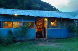 Lodge al tramonto