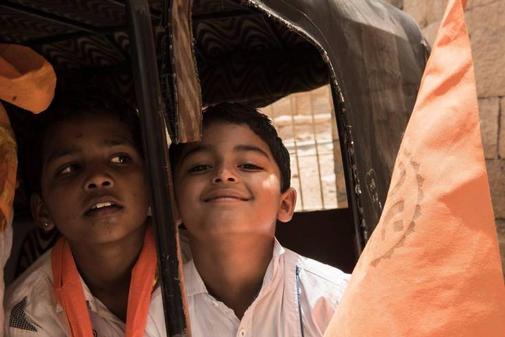 Ragazzi indiani a Jaisalmer - Fotografia di ritratto