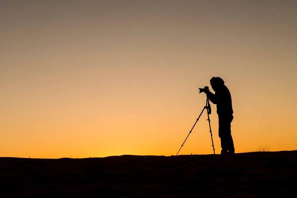silhouette - deserto - alba