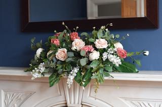 Silk mantelpiece / top table garland