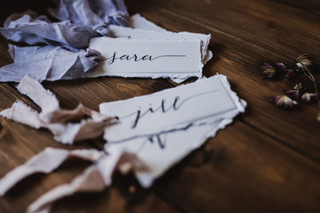 Hand made place cards