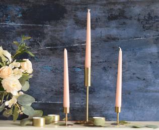 Modern Brass Candlesticks