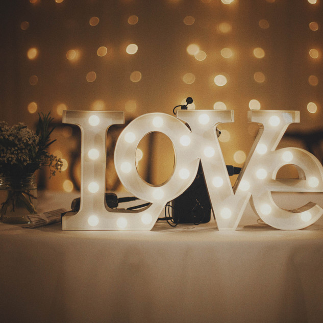 Small Light Up Love Letters