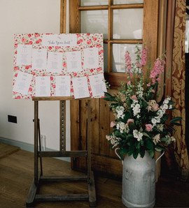 Table Plan and Flowers