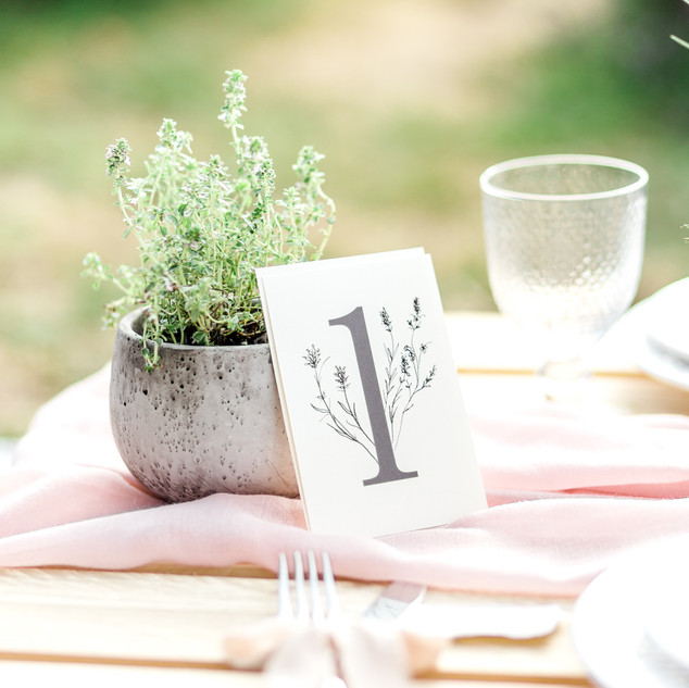 TABLE NUMBERS & SEATING PLANS