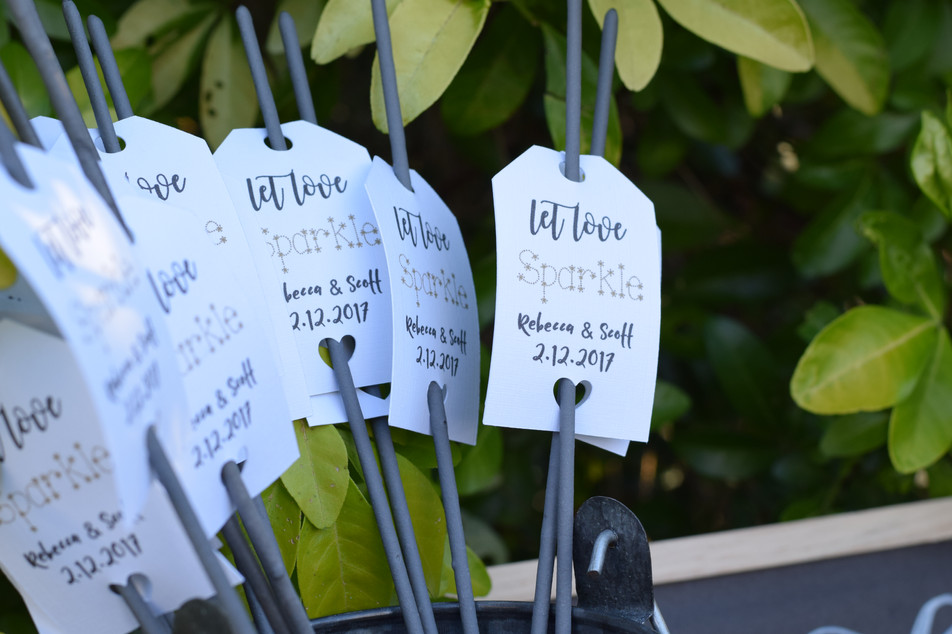 Personalised Sparkler Tags