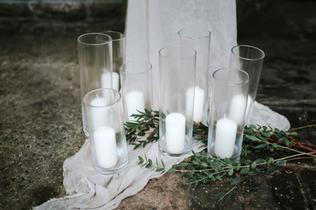 Glass Pillar Candle Holders