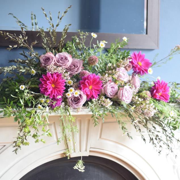 Mantelpiece Wedding Arrangement