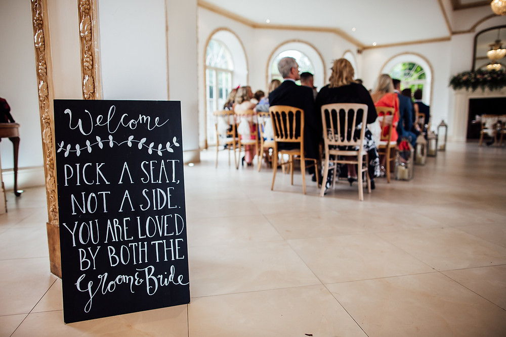Wedding blackboards and signs