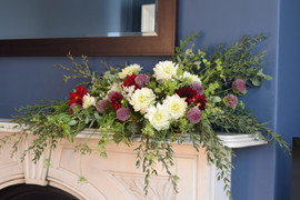 Mantelpiece Wedding Flower Arrangement