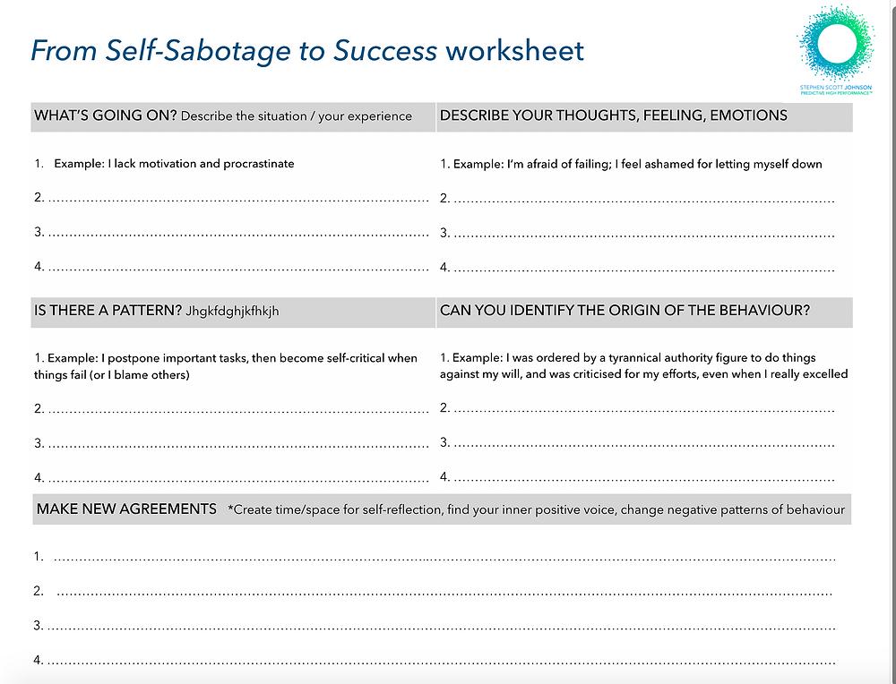 Stephen Scott Johnson_From Self-Sabotage to Success worksheet
